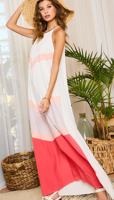 Color Block Maxi Dresses