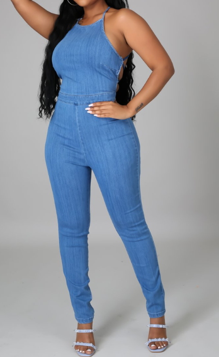 Judy Denim Jumpsuit