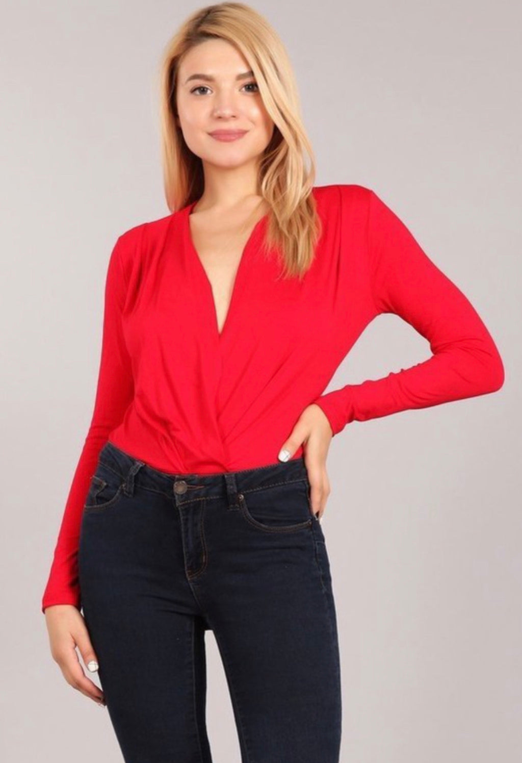 Luxe Red Bodysuit