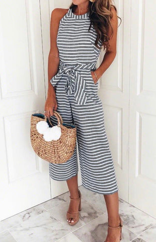 Animal Stripe Maxi Dress