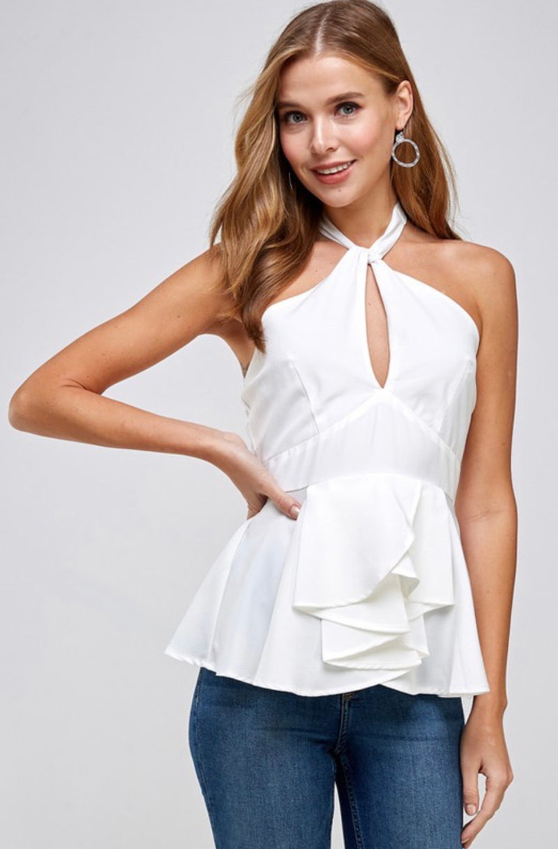 Lulu Crossed Halter Top