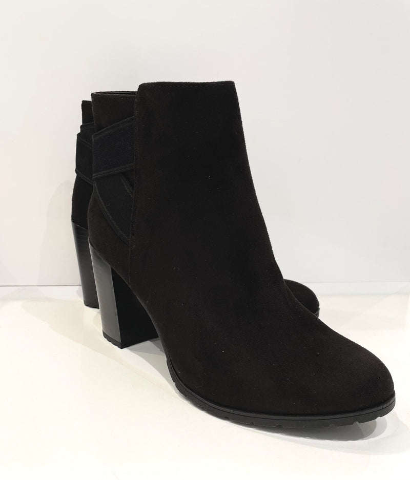 Jenny Black Suede Booties