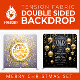 Christmas Set-12 Double Sided Square Tension Fabric Photo Booth Backdrop