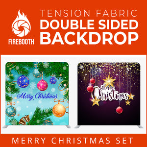 Christmas Set-14 Double Sided Square Tension Fabric Photo Booth Backdrop