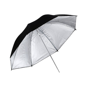 "FireBooth - Professional Black Silver Reflective 33"" Umbrella for Photography, Studio Light Flash, and Portable Photo Booths"