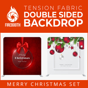 Christmas Set-02 Double Sided Square Tension Fabric Photo Booth Backdrop
