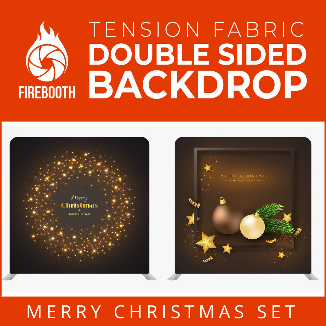 Merry Christmas Set30 Double Sided Tension Fabric Photo Booth Backdrop