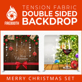 Merry Christmas Set35 Double Sided Tension Fabric Photo Booth Backdrop
