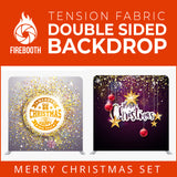 Merry Christmas Set38 Double Sided Tension Fabric Photo Booth Backdrop