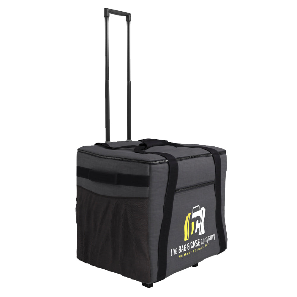 Printer Soft Bag Case with Pull Out Handle on Wheels