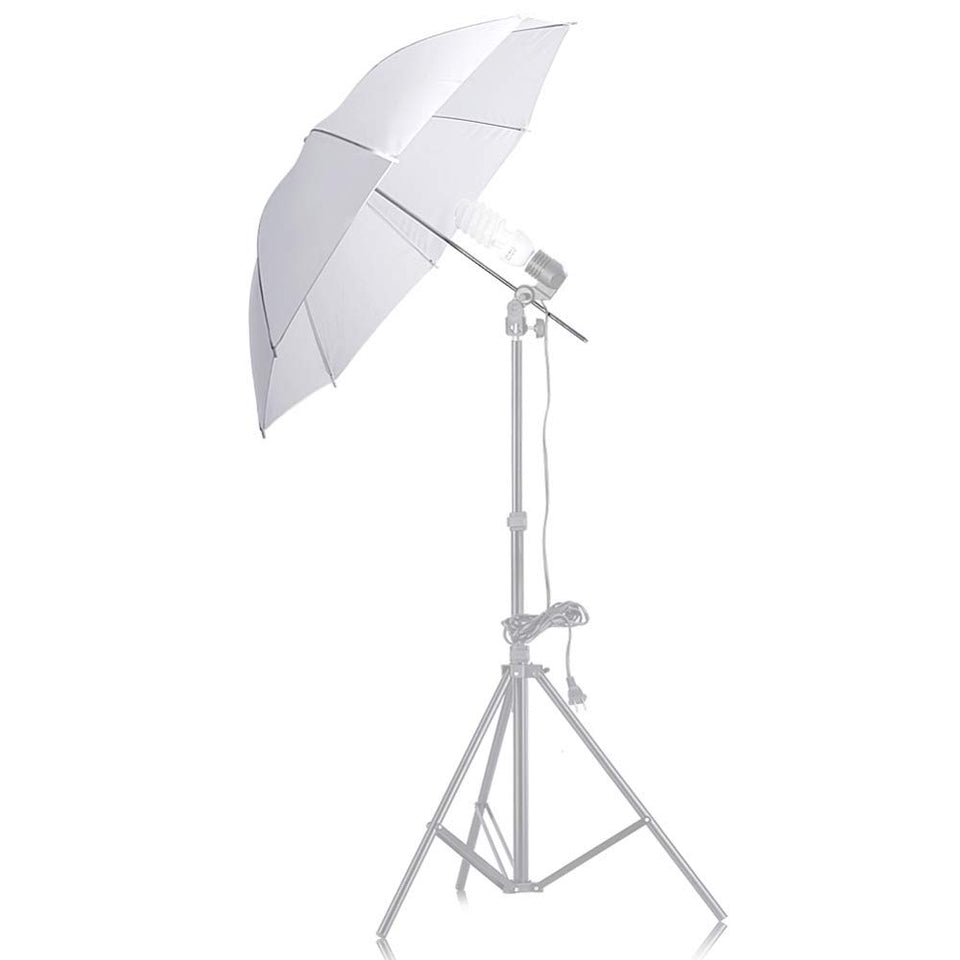 "FireBooth - Professional White Translucent Reflector 33"" Umbrella for Photography, Studio Light Flash, and Portable Photo Booths"