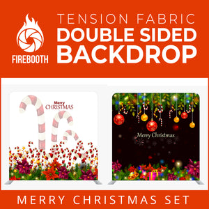 Christmas Set-40 Double Sided Square Tension Fabric Photo Booth Backdrop