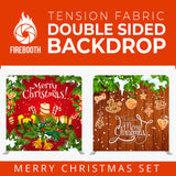 Merry Christmas Set50 Double Sided Tension Fabric Photo Booth Backdrop