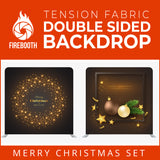Christmas Set-05 Double Sided Square Tension Fabric Photo Booth Backdrop
