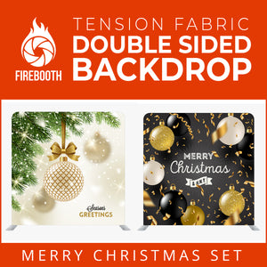 Christmas Set-58 Double Sided Square Tension Fabric Photo Booth Backdrop