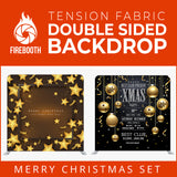 Christmas Set-06 Double Sided Square Tension Fabric Photo Booth Backdrop