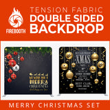 Christmas Set-08 Double Sided Square Tension Fabric Photo Booth Backdrop