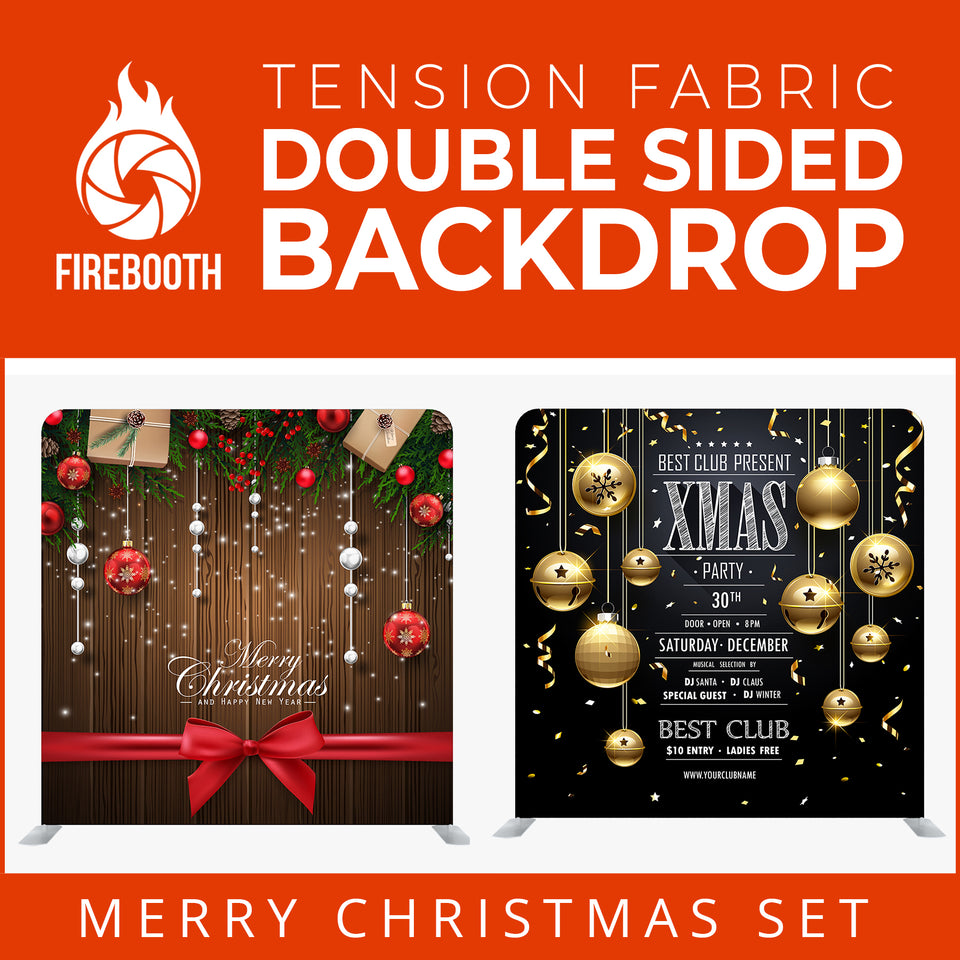 Christmas Set-09 Double Sided Square Tension Fabric Photo Booth Backdrop