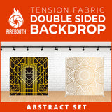 Abstract Set-1 Double Sided Tension Fabric Photo Booth Backdrop