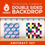 Abstract Set-4 Double Sided Tension Fabric Photo Booth Backdrop