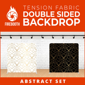Abstract Set-5 Double Sided Tension Fabric Photo Booth Backdrop