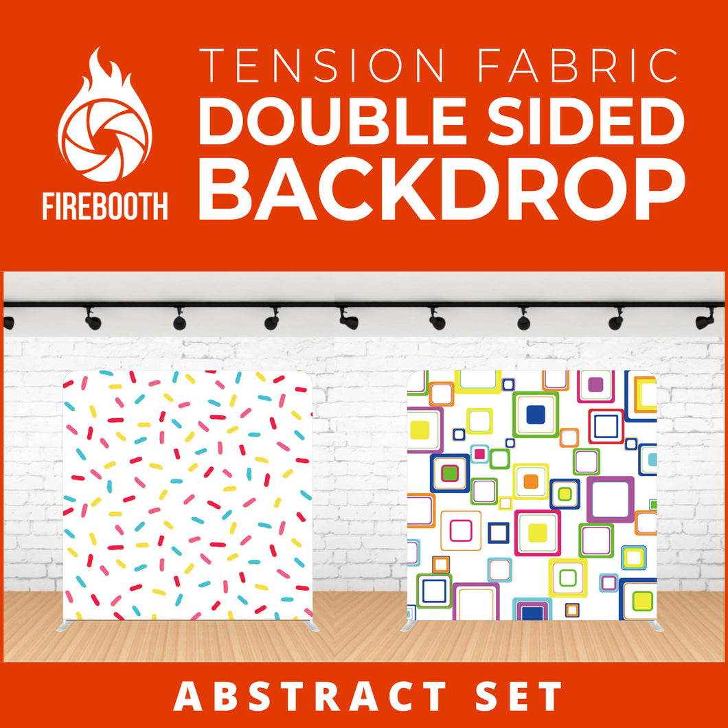 Abstract Set-6 Double Sided Tension Fabric Photo Booth Backdrop
