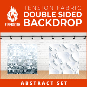 Abstract Set Double Sided Tension Fabric Photo Booth Backdrop