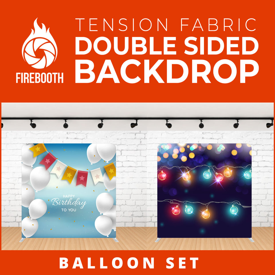 Balloon Set-1 Double Sided Tension Fabric Photo Booth Backdrop
