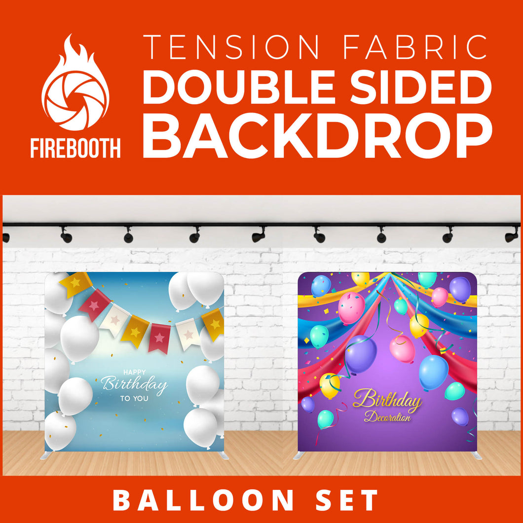 Balloon Set-2 Double Sided Tension Fabric Photo Booth Backdrop