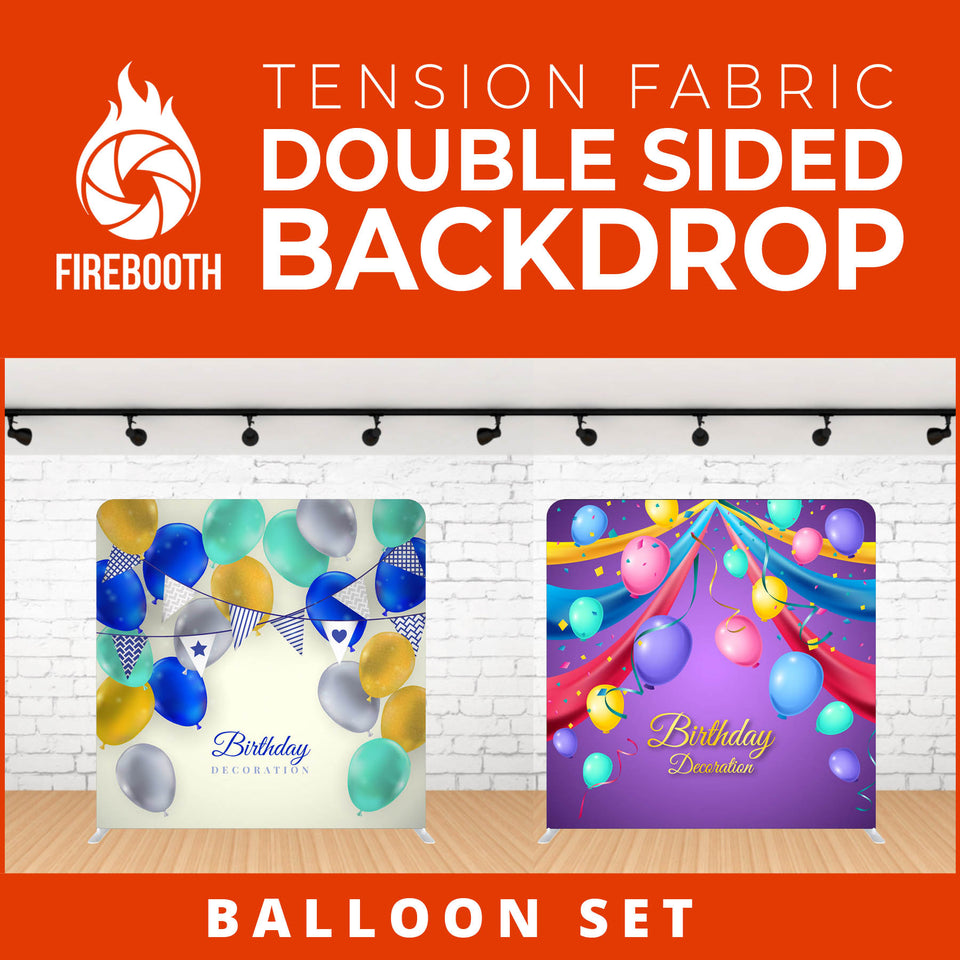 Balloon Set-3 Double Sided Tension Fabric Photo Booth Backdrop