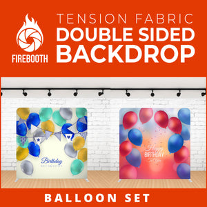 Balloon Set-4 Double Sided Tension Fabric Photo Booth Backdrop