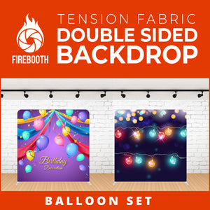 Balloon Set-5 Double Sided Tension Fabric Photo Booth Backdrop