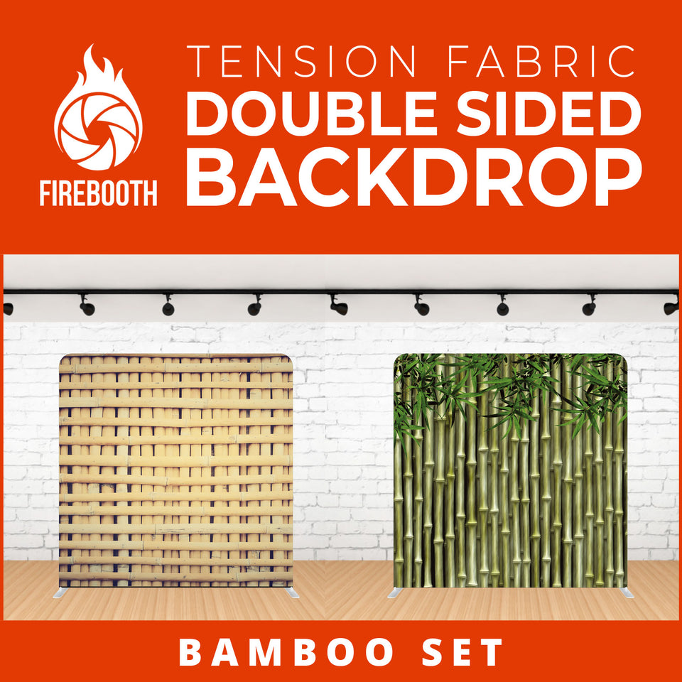 Bamboo Set Double Sided Tension Fabric Photo Booth Backdrop