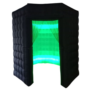 Black LED Inflatable Photo Booth Octagon Enclosure