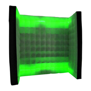 Black LED Inflatable Photo Booth Square Wall