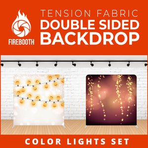 Color Lights Set-11 Double Sided Tension Fabric Photo Booth Backdrop