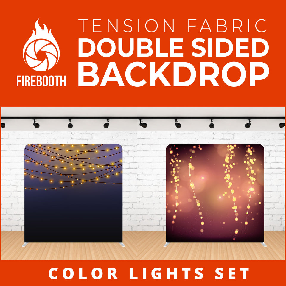 Color Lights Set-12 Double Sided Tension Fabric Photo Booth Backdrop