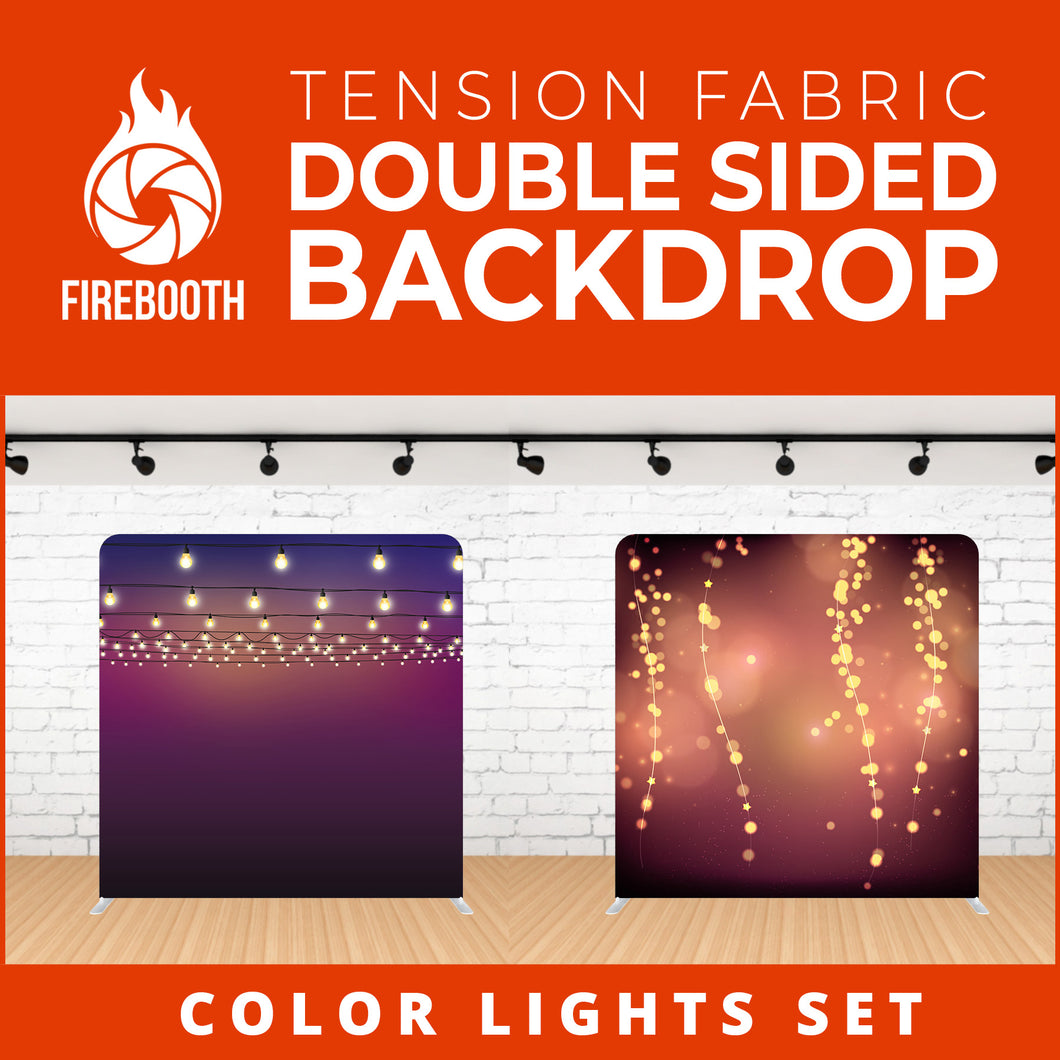 Color Lights Set-13 Double Sided Tension Fabric Photo Booth Backdrop