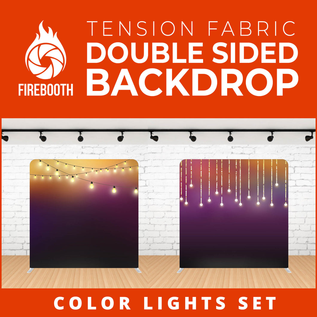 Color Lights Set-15 Double Sided Tension Fabric Photo Booth Backdrop