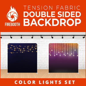 Color Lights Set-16 Double Sided Tension Fabric Photo Booth Backdrop