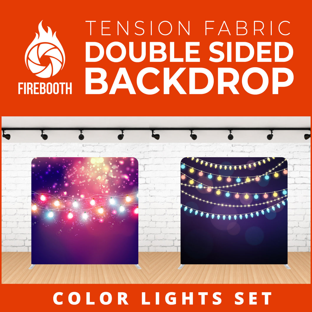Color Lights Set-17 Double Sided Tension Fabric Photo Booth Backdrop