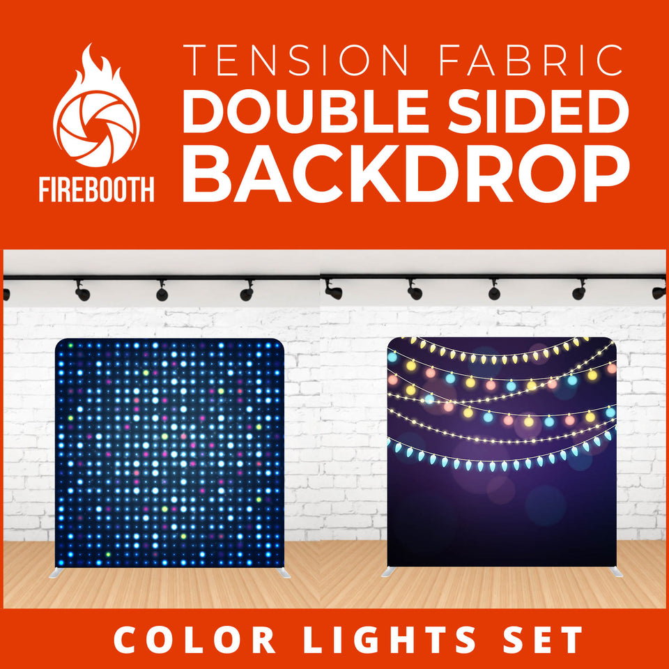 Color Lights Set-18 Double Sided Tension Fabric Photo Booth Backdrop
