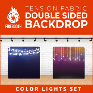 Color Lights Set-1 Double Sided Tension Fabric Photo Booth Backdrop