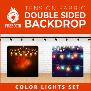 Color Lights Set-5 Double Sided Tension Fabric Photo Booth Backdrop