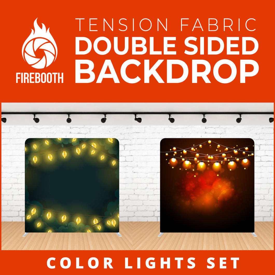 Color Lights Set-7 Double Sided Tension Fabric Photo Booth Backdrop
