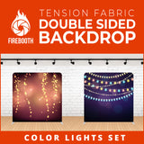 Color Lights Set-9 Double Sided Tension Fabric Photo Booth Backdrop