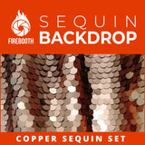 Copper Sequin Photo Booth Backdrop