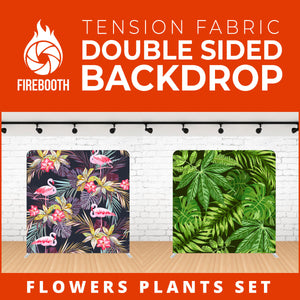 Flower Plants Set-6 Double Sided Tension Fabric Photo Booth Backdrop