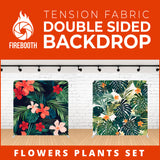 Flower Plants Set-7 Double Sided Tension Fabric Photo Booth Backdrop