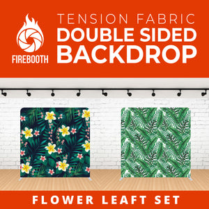 Flower Leaft Set-1 Double Sided Tension Fabric Photo Booth Backdrop